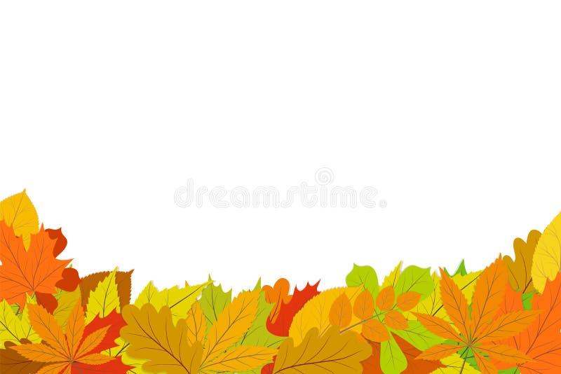 Fondo del diseño del otoño con las hojas que caen del árbol EPS1 ilustración del vector