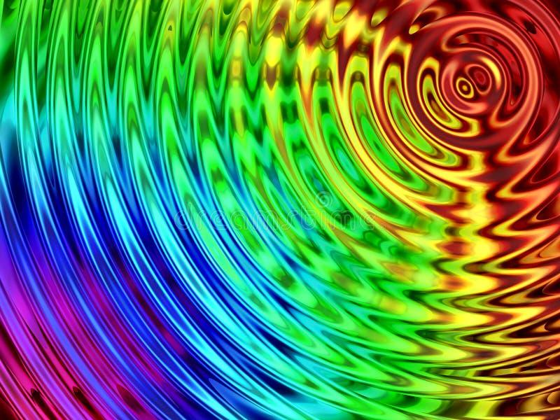Fondo del efecto del agua, resonancia colorida del agua foto de archivo