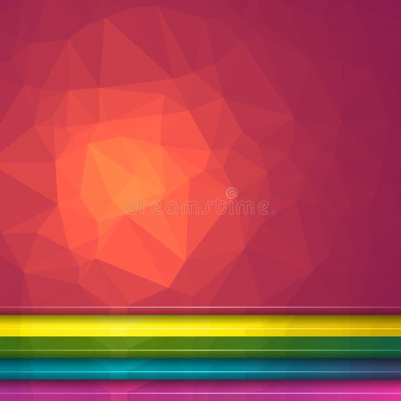 Fondo del efecto luminoso de Poligon Sistema de cinco ejemplos triangulares geométricos Jefes del sitio web libre illustration