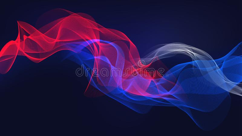Fondo del ejemplo de la onda acústica de la bandera del humo fotografía de archivo libre de regalías