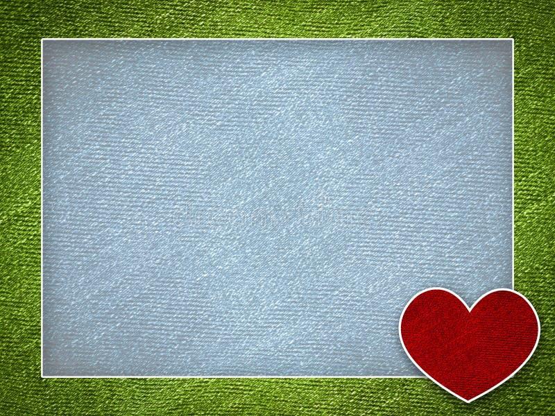 Fondo del ejemplo de la tarjeta de la tarjeta del día de San Valentín stock de ilustración