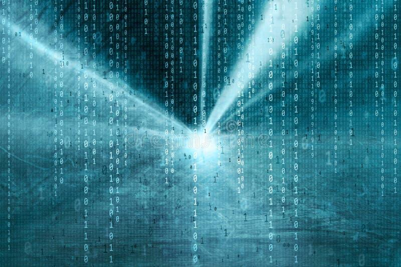 Fondo del ejemplo de los datos de los números binarios de Artistiic ilustración del vector