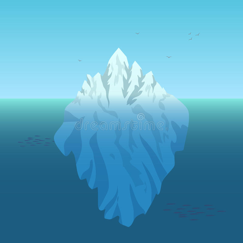 Fondo del ejemplo del vector del iceberg libre illustration