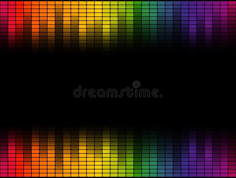 Fondo del equalizador de Digitaces colorido - sin fin stock de ilustración