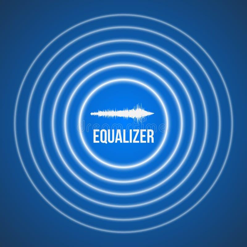 Fondo del equalizador de la música del pulso del vector Equalizador audio de la onda libre illustration