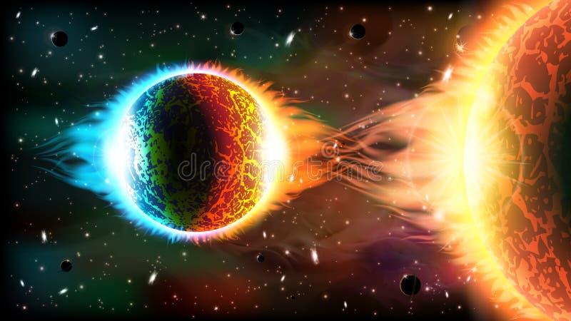 Download Fondo del espacio ilustración del vector. Ilustración de futuro - 41900518
