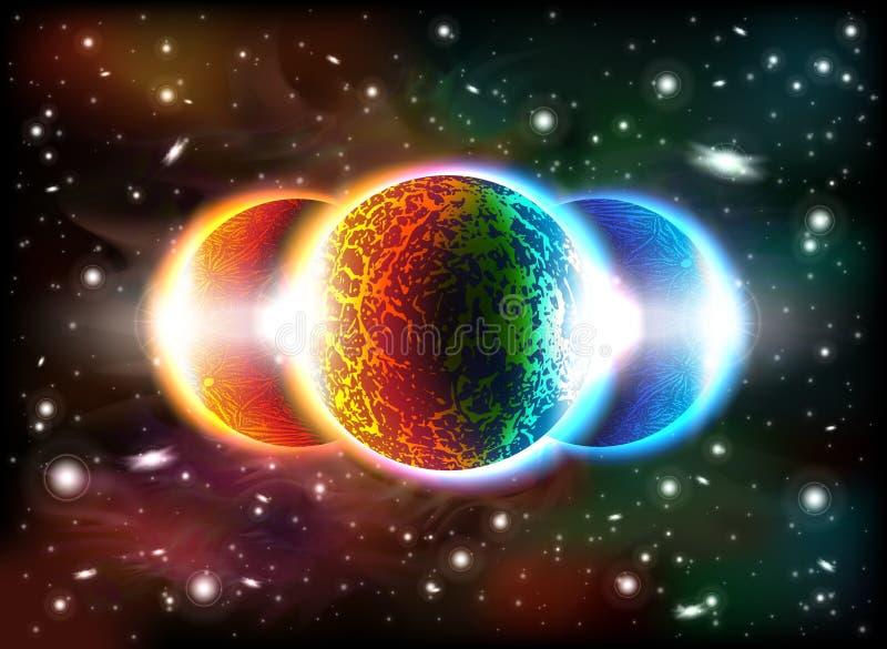 Download Fondo del espacio ilustración del vector. Ilustración de atmósfera - 41900628