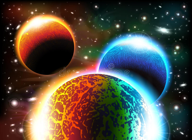 Download Fondo del espacio ilustración del vector. Ilustración de galaxia - 41900778