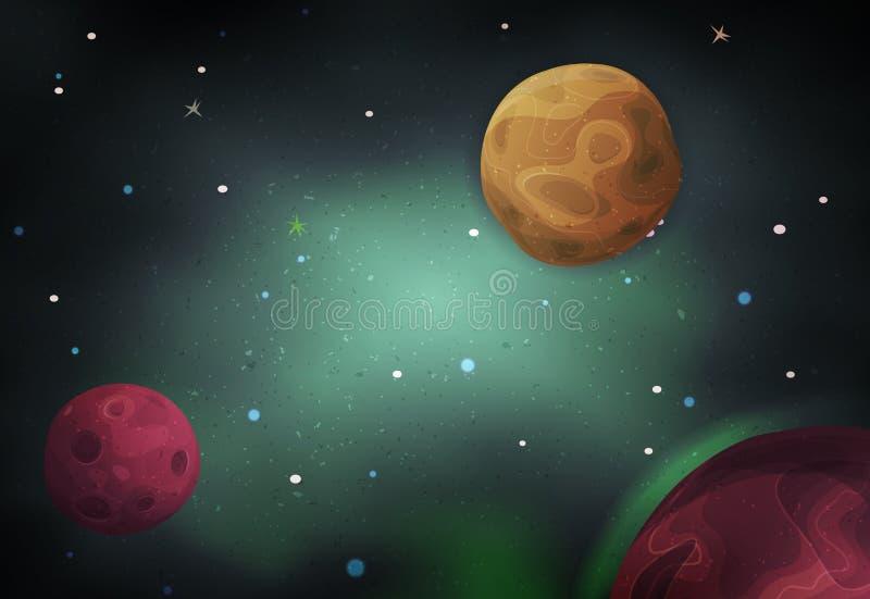 Fondo del espacio del Scifi para el juego de Ui stock de ilustración