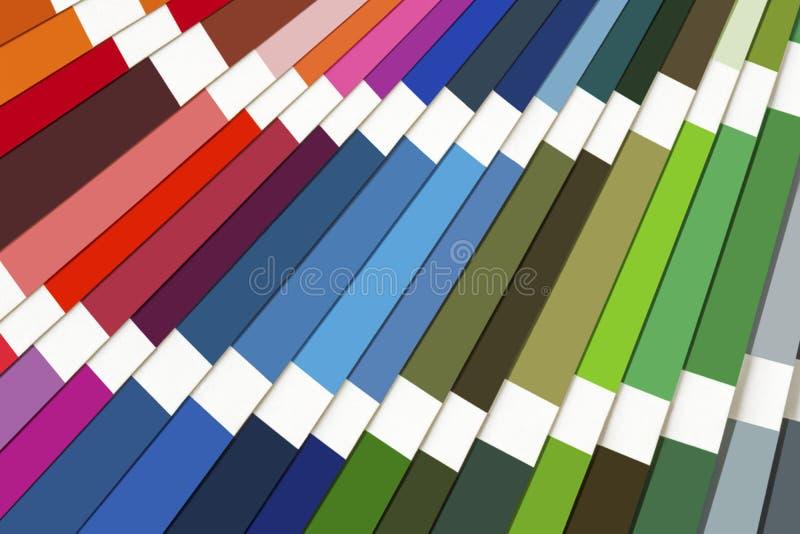 Fondo del espectro de Swatch del color fotos de archivo libres de regalías