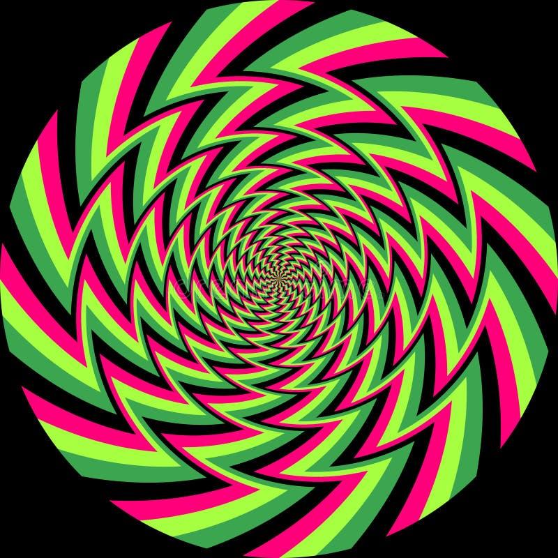 Fondo del espiral de la ilusi?n ?ptica libre illustration