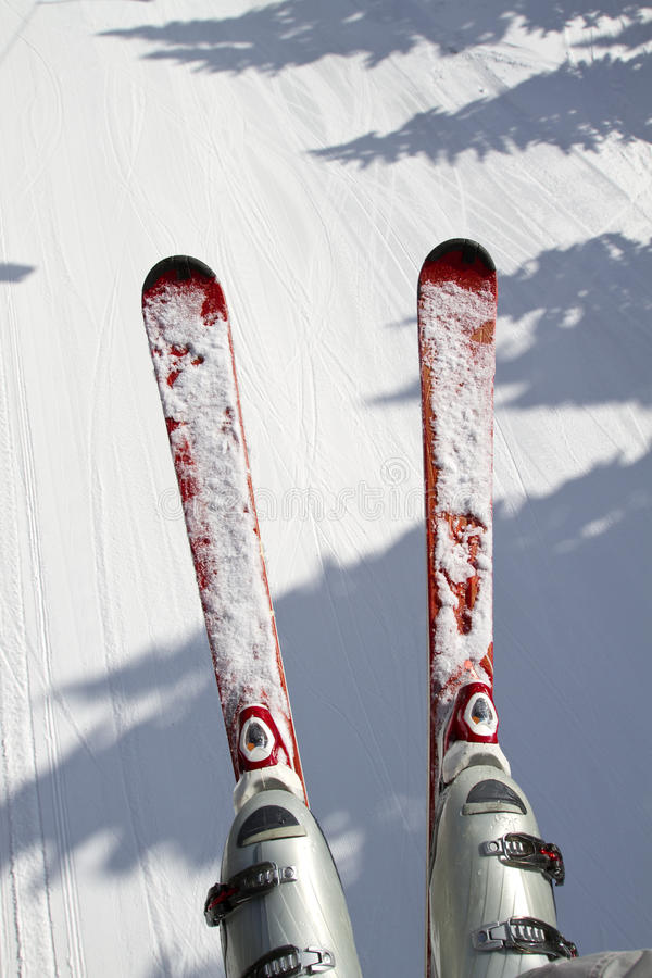 Fondo del esquí y de la nieve fotografía de archivo libre de regalías