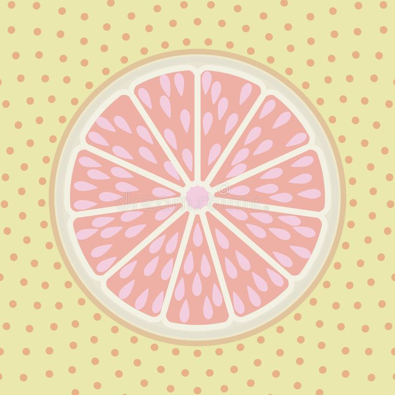 Fondo del estilo del arte pop de la rebanada del pomelo libre illustration