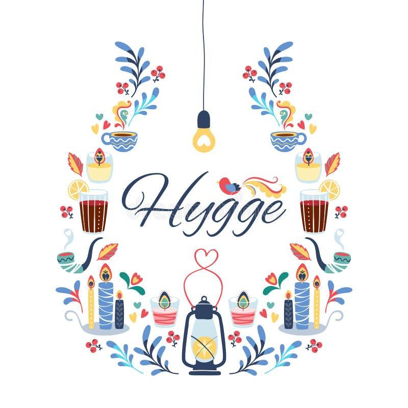 Fondo del estilo de Hygge libre illustration