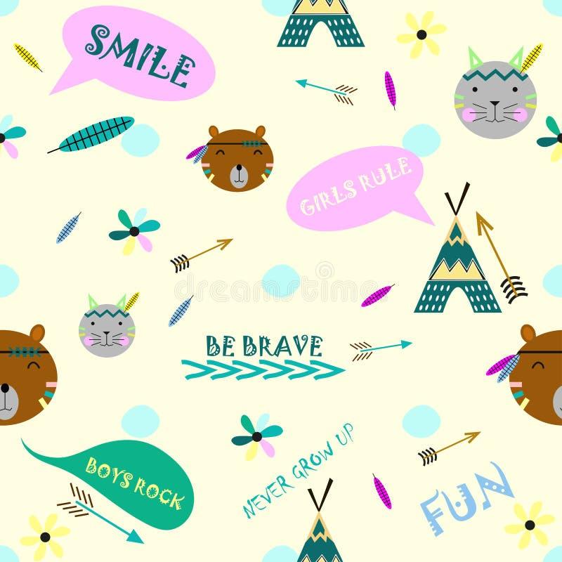 Fondo del estilo de la tienda de los indios norteamericanos libre illustration