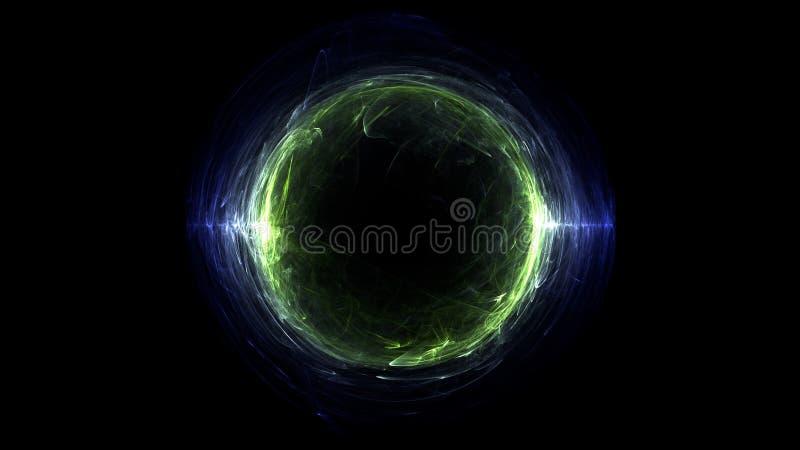 Fondo del extracto del agujero del bucle temporal ilustración del vector