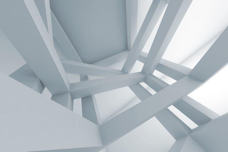 fondo del extracto 3d, construcción apoyada caótica libre illustration