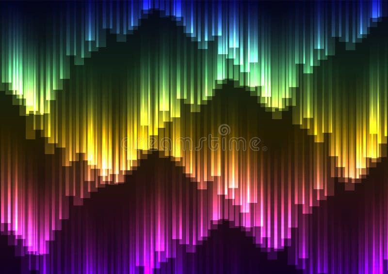 Fondo del extracto de la aurora de Digitaces ilustración del vector