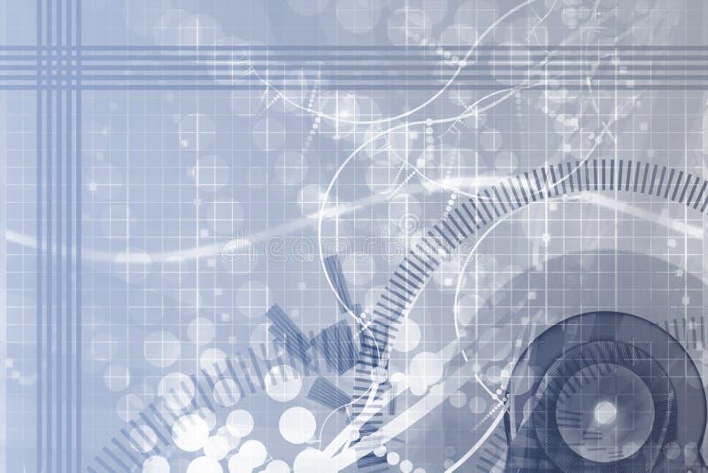 Fondo del extracto de la ciencia de la ingeniería industrial libre illustration
