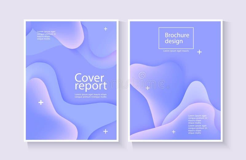 Fondo del extracto de la cubierta del informe corporativo con la onda azul para el diseño del folleto libre illustration