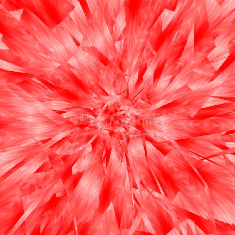 Fondo del extracto de la explosión de la acuarela de los colores del coral y del flamenco stock de ilustración