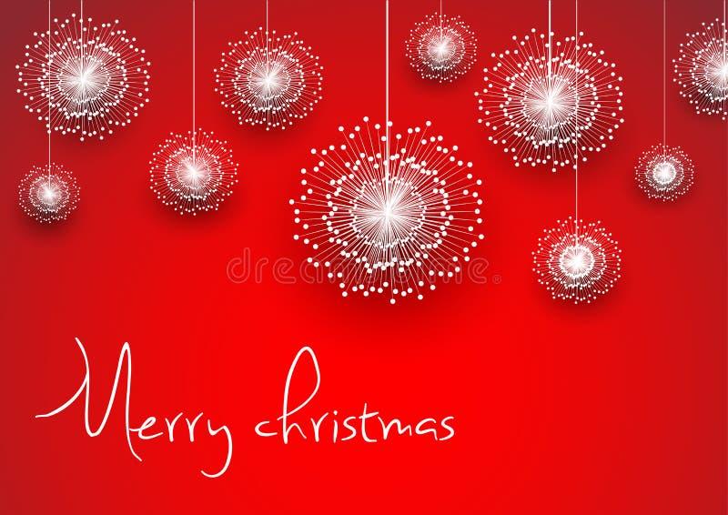 Fondo del extracto de la Feliz Navidad fotografía de archivo
