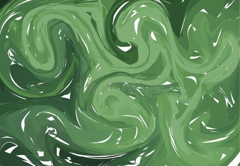 Fondo del extracto de la luz verde Texturas que vetean de la tinta Dé los ejemplos, la aguamarina papel del ebru y las impresione libre illustration