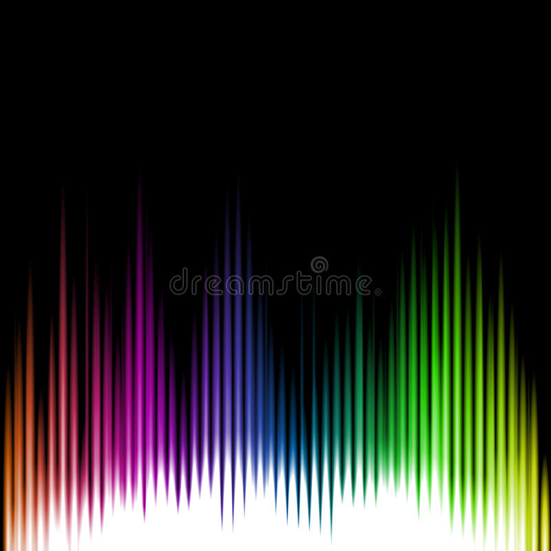 Fondo del extracto de la onda del equalizador de los sonidos Vector ilustración del vector