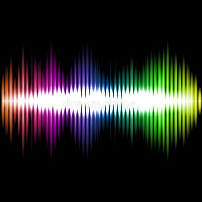 Fondo del extracto de la onda del equalizador de los sonidos Vector libre illustration