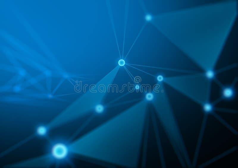 Fondo del extracto de la red de la tecnología imágenes de archivo libres de regalías