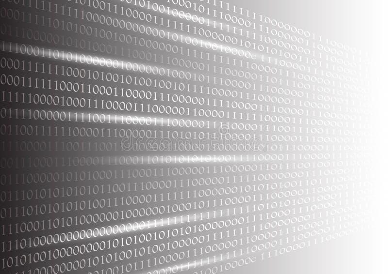 Fondo del extracto de la textura del código binario, ejemplo del vector del concepto de la tecnología del negocio ilustración del vector