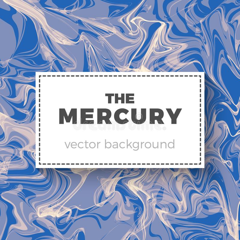 Fondo del extracto de Mercury ilustración del vector