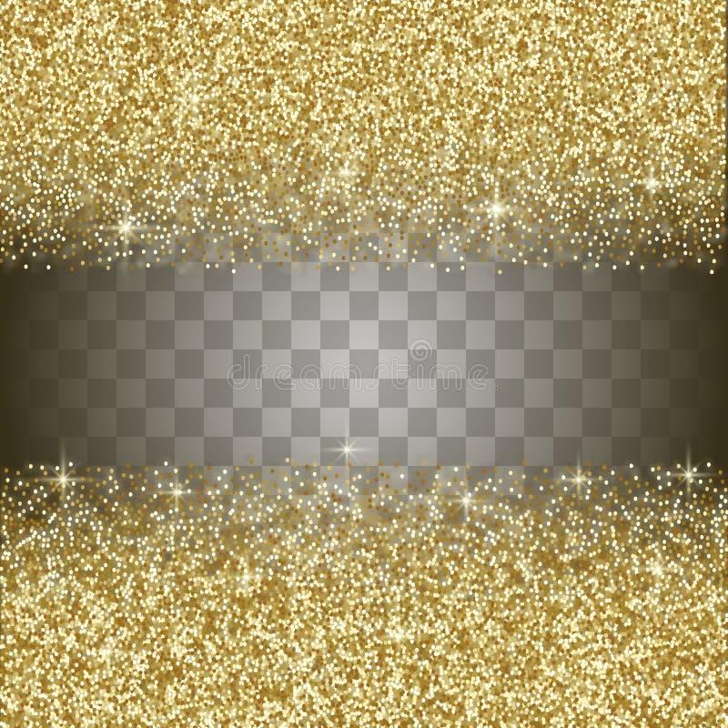 Fondo del extracto del brillo del oro ilustración del vector