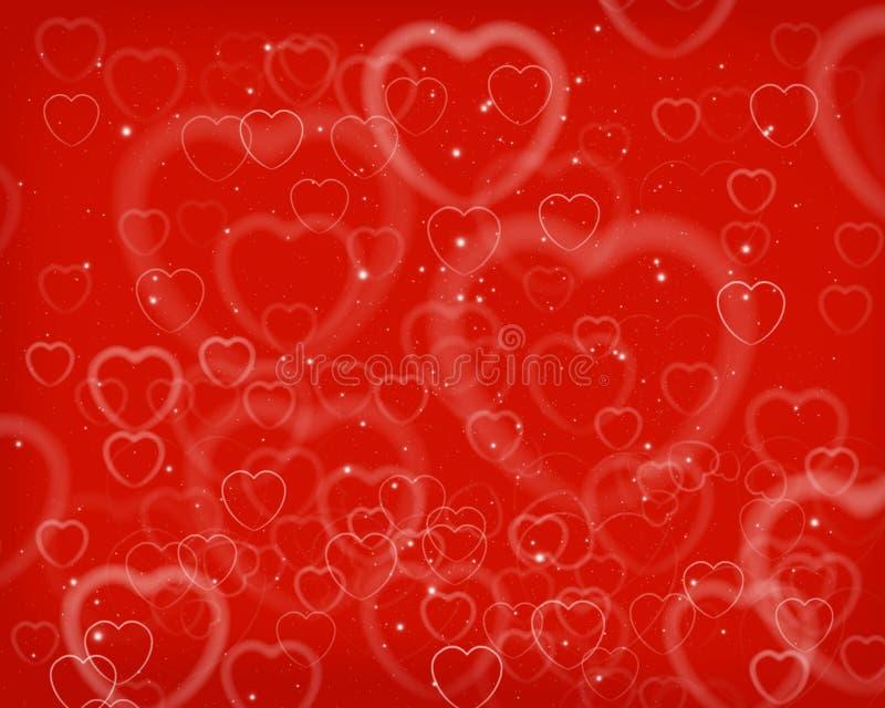 Fondo del extracto del día de tarjeta del día de San Valentín stock de ilustración