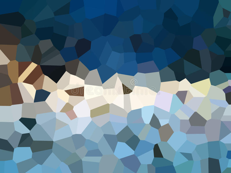 Fondo del extracto del filtro del efecto del pixelation del triángulo stock de ilustración