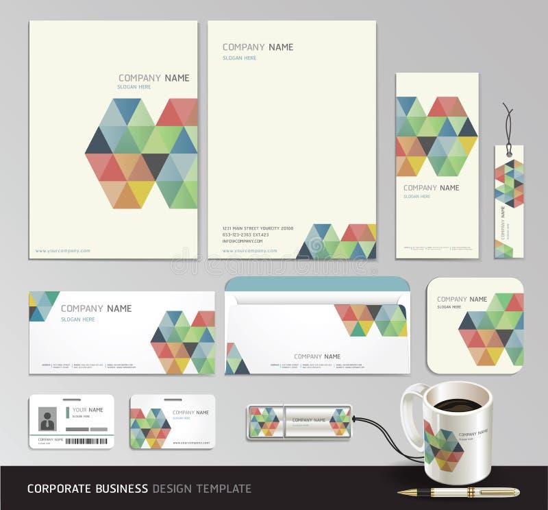 Fondo del extracto del negocio de la identidad corporativa. ilustración del vector