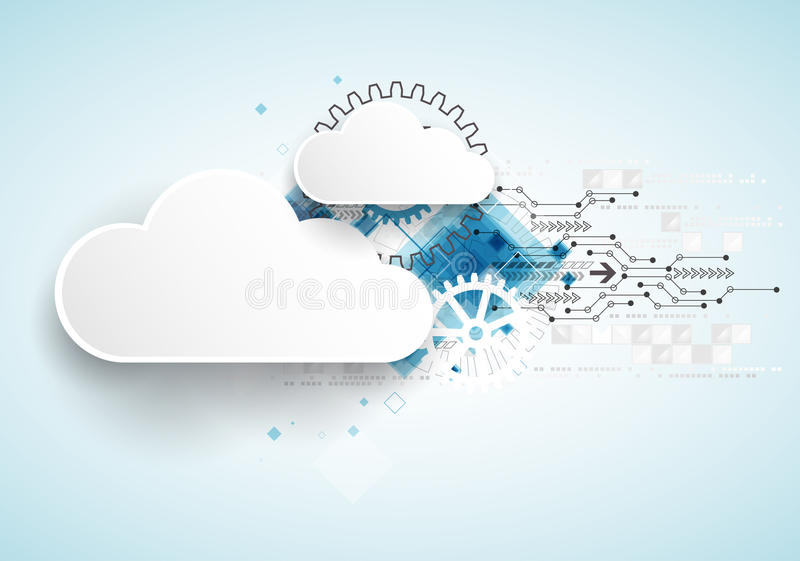 Fondo del extracto del negocio de la tecnología de la nube del web fotografía de archivo libre de regalías