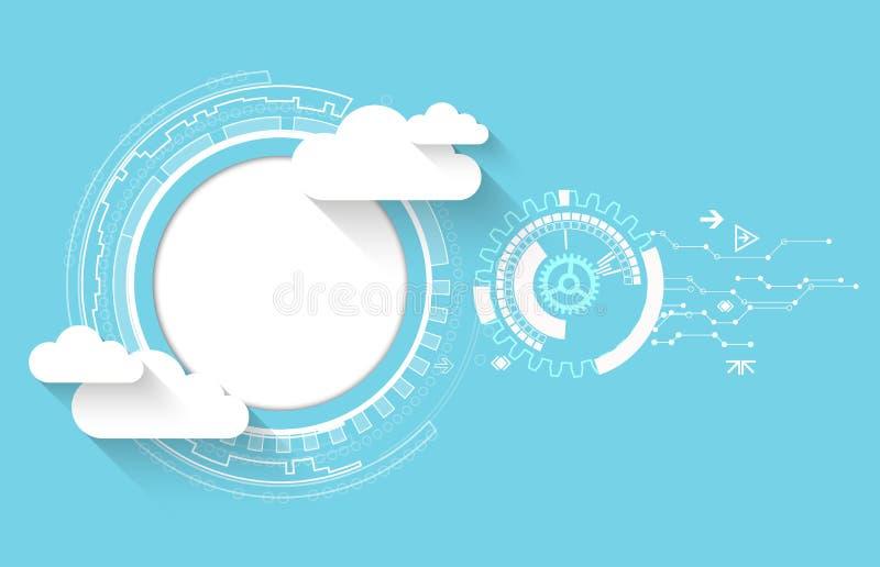 Fondo del extracto del negocio de la tecnología de la nube del web ilustración del vector