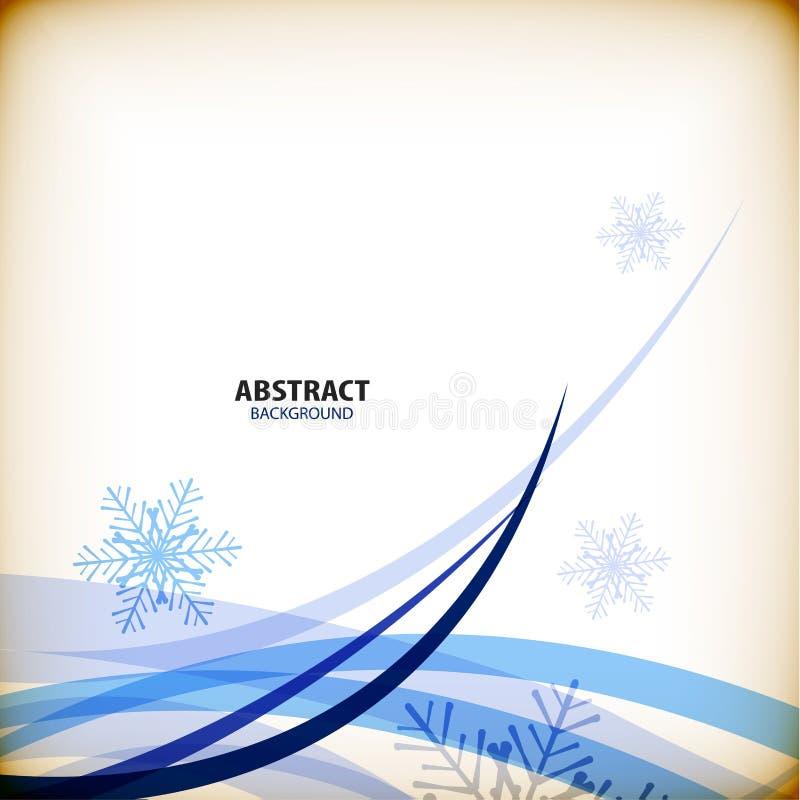 Fondo del extracto del negocio de los copos de nieve de la Navidad libre illustration