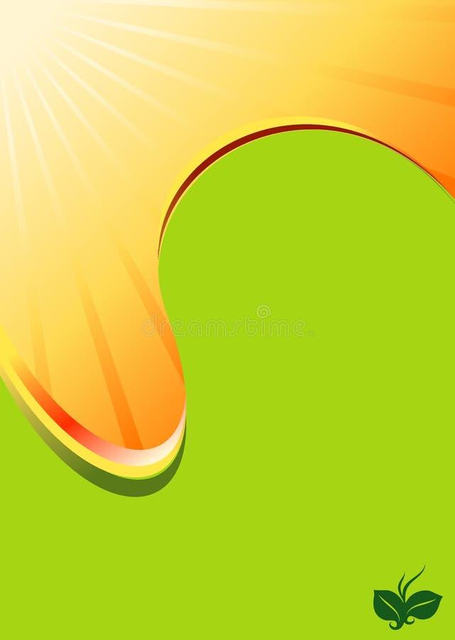 Fondo del extracto del punto del flujo de Sun de la miel ilustración del vector