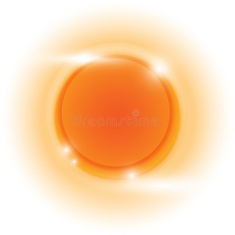 Fondo del extracto del vector del círculo del tono naranja del diseño stock de ilustración
