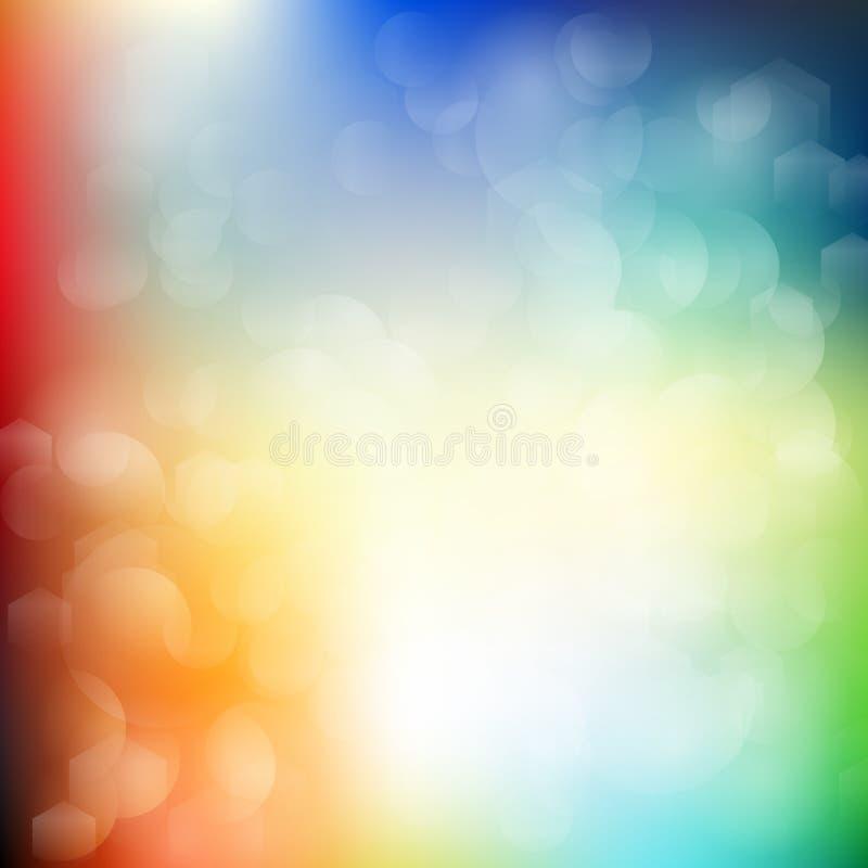 fondo del extracto del multicolor y bokeh lisos de la falta de definición fotografía de archivo