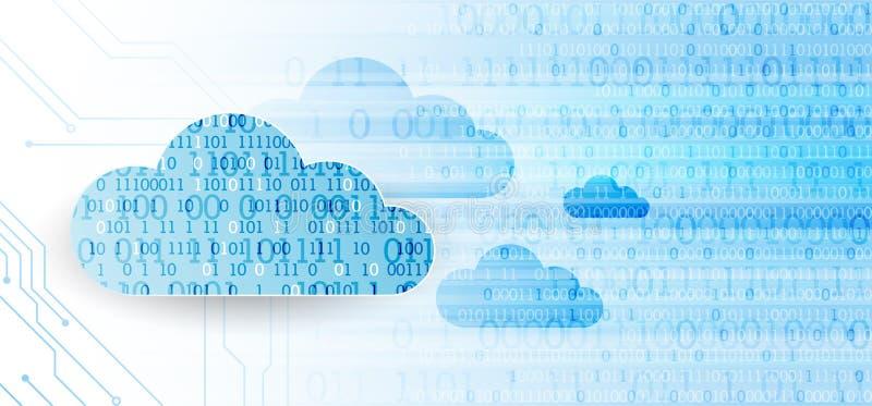 Fondo del extracto del negocio de la tecnología de la nube del web Vector ilustración del vector