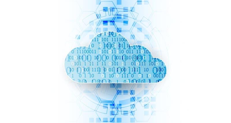 Fondo del extracto del negocio de la tecnología de la nube del web Vector libre illustration