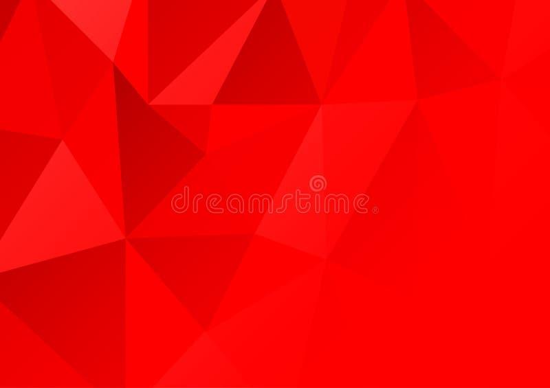 Fondo del extracto del polígono del color rojo Ilustración del vector libre illustration