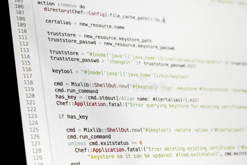 Fondo del extracto del programador de la codificación Escritura del lenguaje de programación imagenes de archivo
