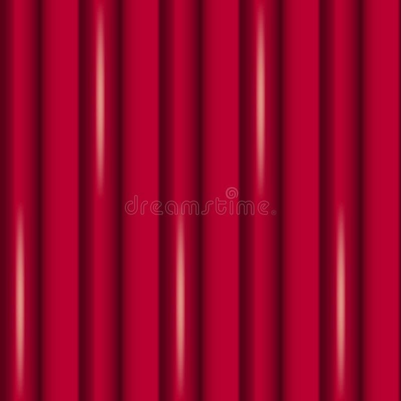 Fondo del extracto del vector de cortinas rojas stock de ilustración