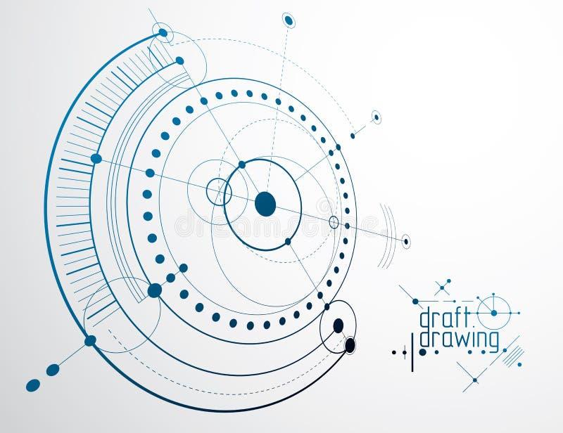 Fondo del extracto del vector de la tecnología de la ingeniería industrial, CY ilustración del vector