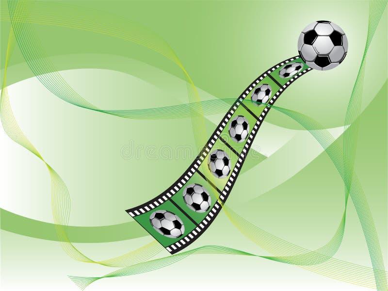 Fondo del fútbol ilustración del vector