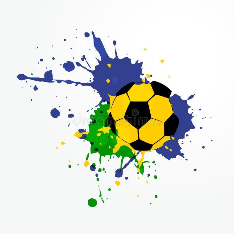 Download Fondo Del Fútbol Del Estilo Del Grunge Ilustración del Vector - Ilustración de extracto, competición: 41919558